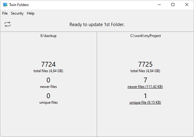 Click to view Twin Folders 5.0.3 screenshot
